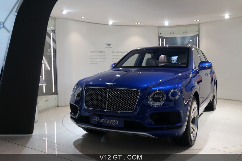 salon de gen ve 2016 bentley bentayga bleu 3 4 avant gauche gen ve 2016 photos salons. Black Bedroom Furniture Sets. Home Design Ideas