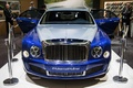 Salon de Genève 2016 - Bentley Mulsanne Grand Limousine bleu/gris face avant