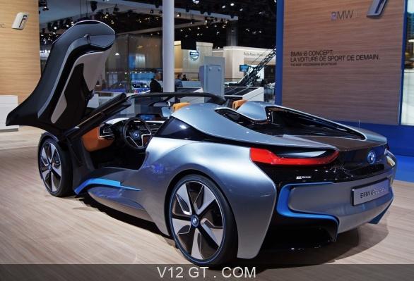 mondial de l 39 automobile de paris 2012 bmw i8 spider 3 4. Black Bedroom Furniture Sets. Home Design Ideas