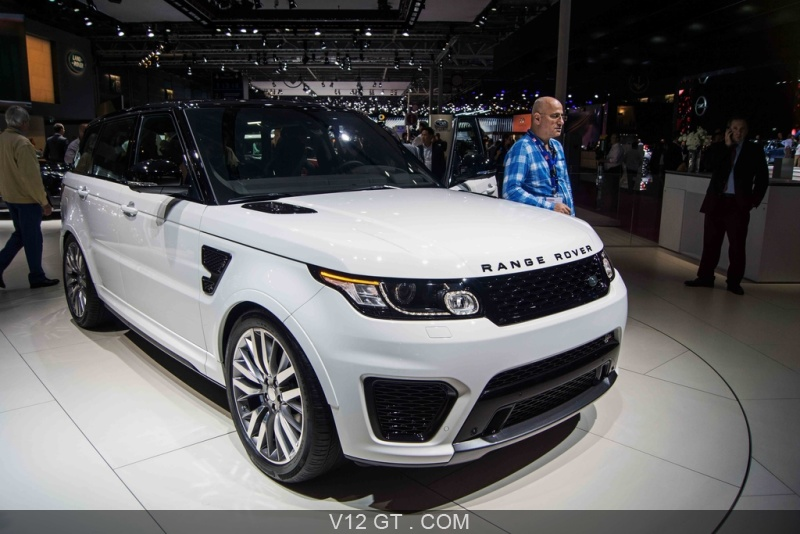 range rover sport svr blanc 3 4 avant droit porte ouverte mondial de l 39 automobile de paris. Black Bedroom Furniture Sets. Home Design Ideas