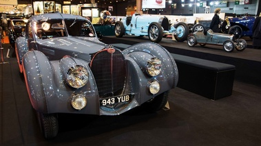 Rétromobile 2017 - Bugatti Type 57 SC Atlantic anthracite face avant
