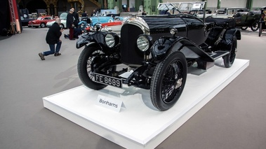 Bonhams - Paris 2018 - Bentley noir 3/4 avant gauche