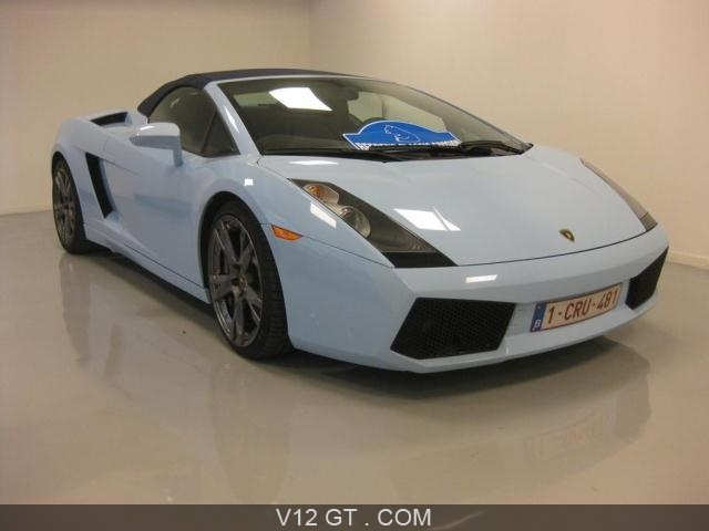 lamborghini gallardo spyder vendu 2007 petites. Black Bedroom Furniture Sets. Home Design Ideas