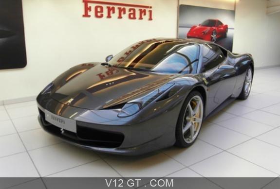 Ferrari 458 italia - vendu 2011 - 3/4 avant gauche