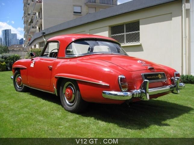 Mercedes benz 190 sl vendu 1963 petites annonces for Interieur mercedes 190